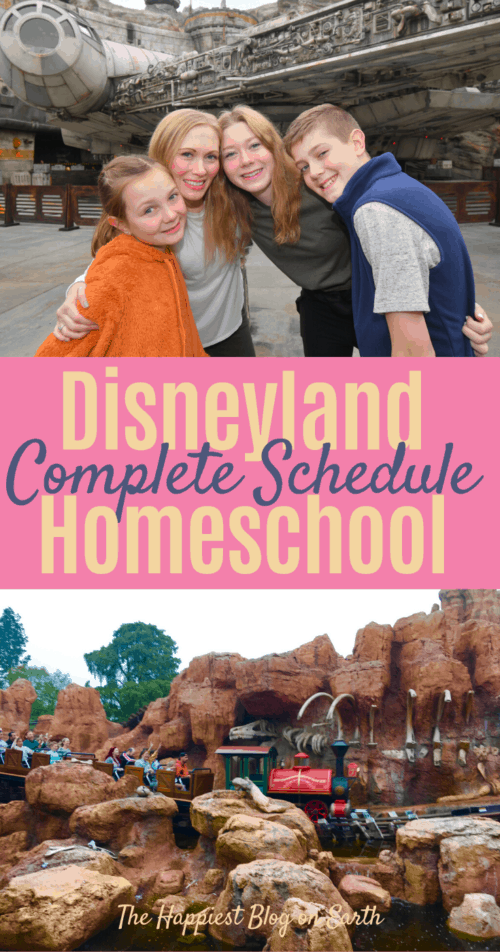 Disneyland Homeschool Schedule