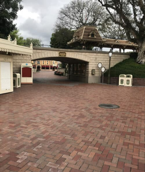 Disneyland empty