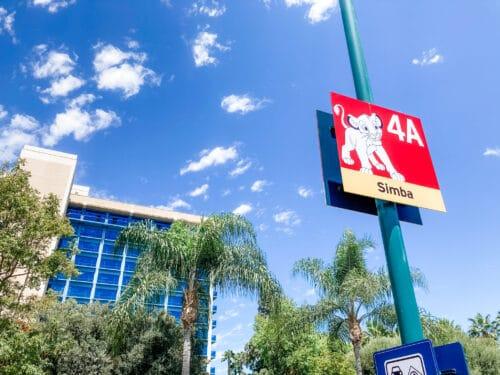 Simba parking Downtown Disney