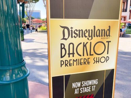 Disneyland backlot shopping