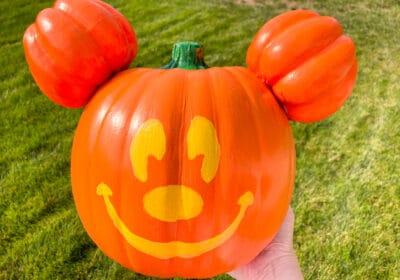 DIY Disneyland Mickey Jack-O-Lantern