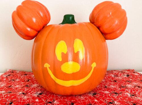 DIY Disneyland Mickey jackolantern