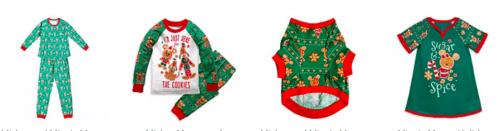 Disney Holiday pajamas