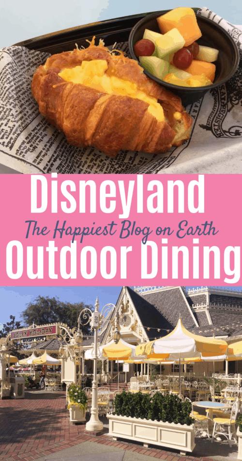 Disneyland outdoor dining