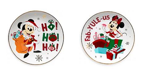 Mickey Minnie holiday plate