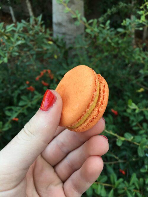 Pumpkin macaron