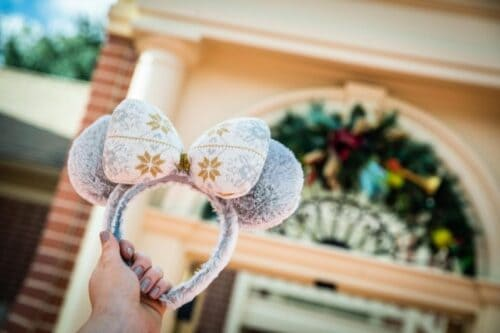 Silver and Gold Holiday Minnie Ears