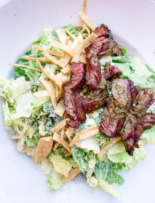 tortilla jos steak salad