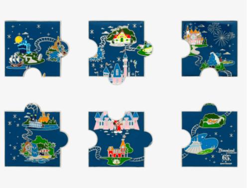 Disneyland 65th pin set