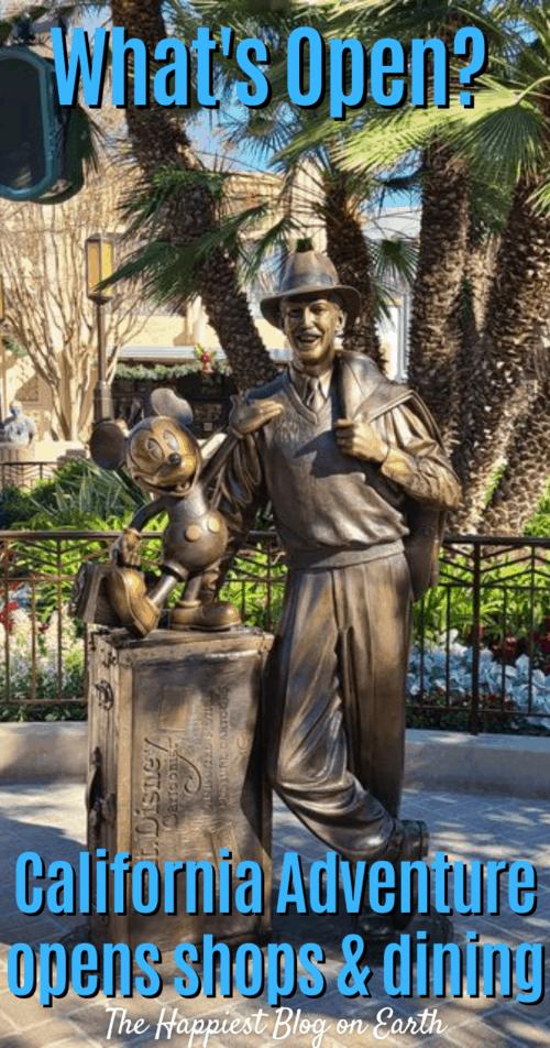 Whats open at Disneyland Resort