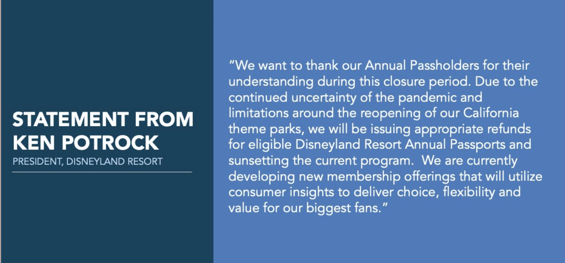 Disneyland AP canceled
