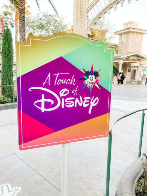 A Touch of Disney sign
