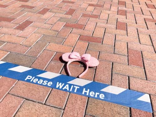 Disneyland wait here