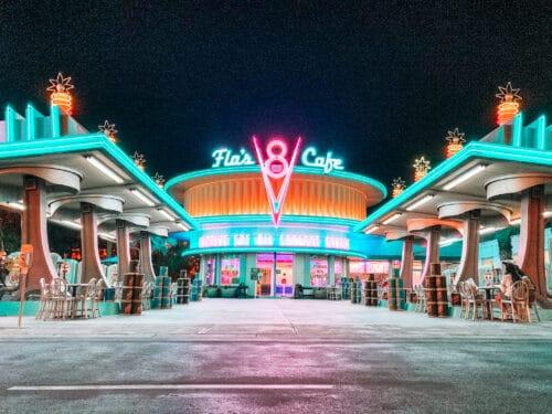 Flos Cars Land Night