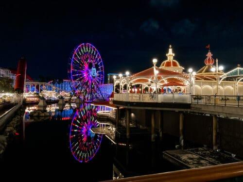 Pixar Pier night pal a round
