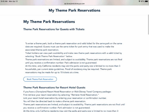 Book a disneyland reservation