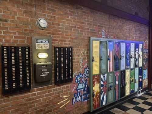 Avengers Campus lockers