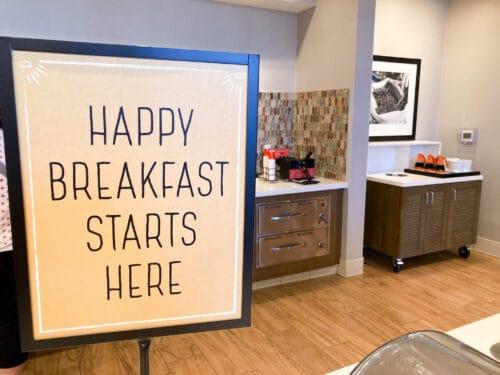 Hampton Inn Disneyland free breakfast