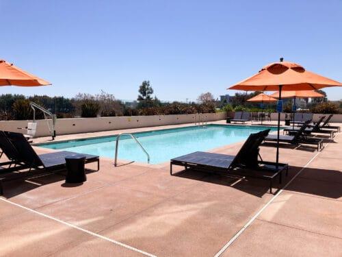 Hampton Inn rooftop pool