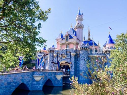 Disneyland castle summer