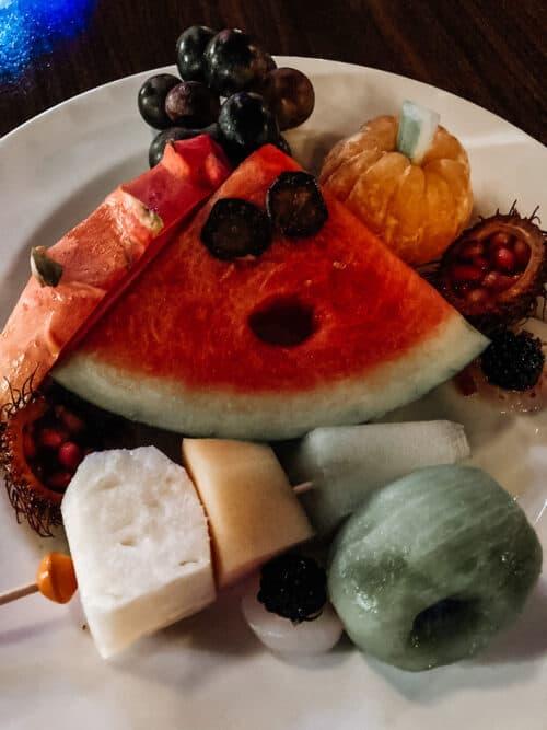 Oogie Boogie Bash dessert party fruit platter