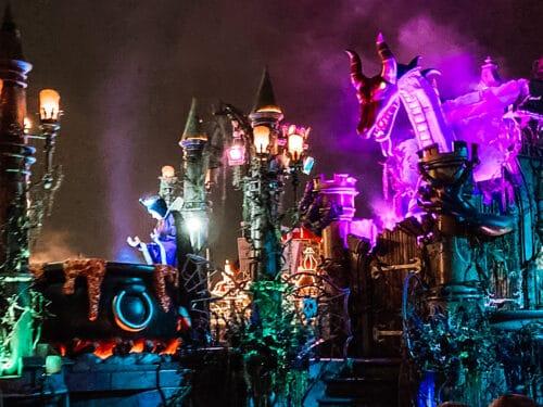 evil queen and dragon parade