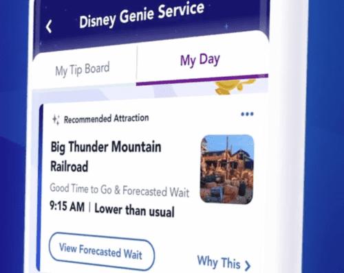 Disney Genie Estimated waits