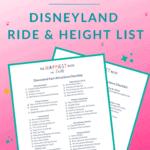 Disneyland Park Attractions List